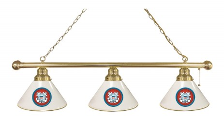 Billiard lights with college, NHL or military  logo